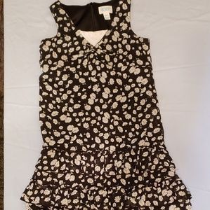THE CHILDREN'S PLACE DRESS BLACK WITH DAISIES 6X/7